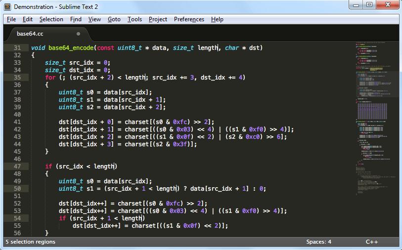 windows版SublimeText3(汉化版)