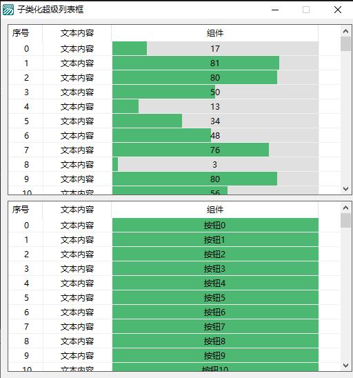 易语言子类化超级列表框 超级列表框画组件